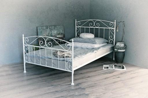 łóżko Metalowe Białe Czarne Florence 120 Producent