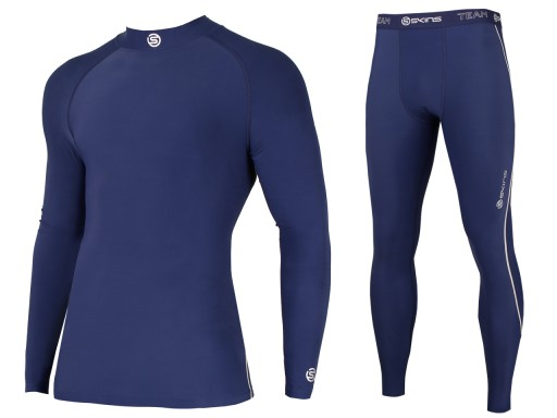be8b50dbe28997 SKINS Bielizna Kompresyjna Bluza + Spodnie UV L 7415846326 - Allegro.pl