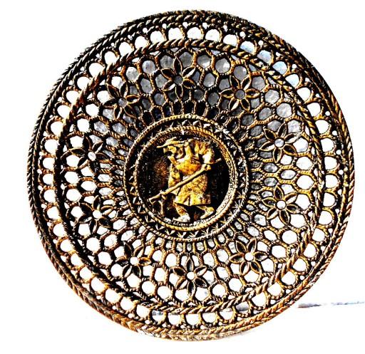 Patera Metalowa Ażurowa Z Wizerunkiem Hutnika 7384212478 Allegropl