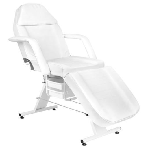 Fotel Kosmetyczny Stabilny Z Kuwetami Biały