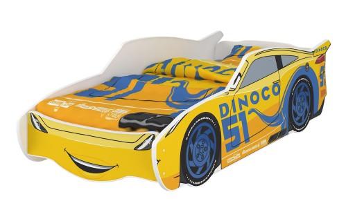 Łóżko dziecięce SAMOCHÓD 160x80 Disney auto mat.