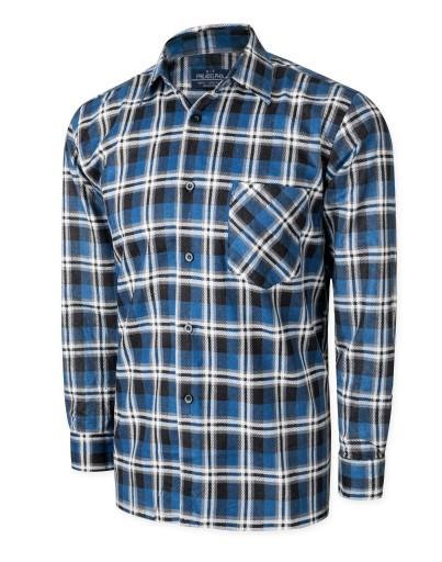 Koszula Męska Flanelowa Koszule Krata 804 05 4243  b2HYb