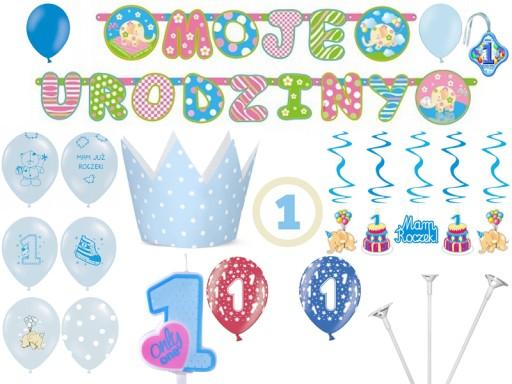 Mega Zestaw Na Pierwsze Urodziny Roczek Dekoracje 6858458650