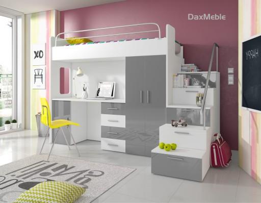 łóżko Piętrowe Eden 4s Biurko Szafa 7 Kolorów 7437862963