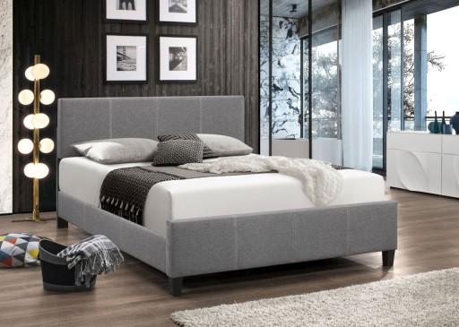 łóżko Tapicerowane 140x200 Szare Stelaż Okazja 7625088232 Allegropl