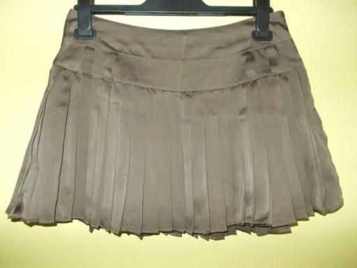 Spódnica plisowana brązowa krótka Reserved 36 / 38