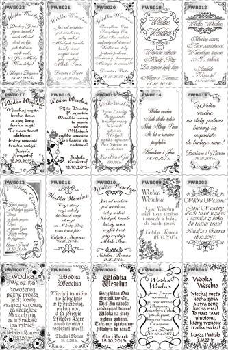 Etykiety Naklejki na wódkę weselną ze zdjęciem