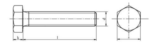 M16x1,5x45 Śruba drobnozwojna kl.10.9 DIN 961 1szt