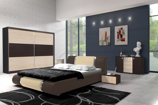 Komplet Mebli Do Sypialni Szafa łóżko Komoda Tanio