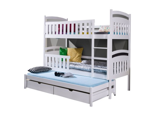 łóżko Piętrowe 3 Osobowe Kasia 90x200 Materace