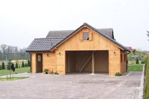Garaż Drewniany Z Pomieszczeniem Gospodarczym 7787864067 Allegropl
