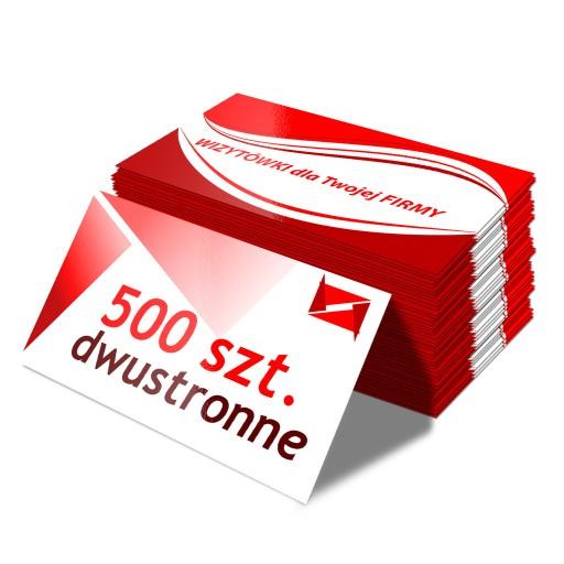 Wizytówki 500 sztuk DWUSTRONNE 350g