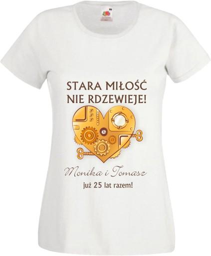 c403b07d8 Koszulka DLA PAR NA ROCZNICĘ ŚLUBU Z NADRUKIEM 7234646573 - Allegro.pl