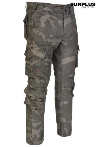 SPODNIE Slim SURPLUS AIRBORNE Slimmy BLACKCamo XL 8994774799 Odzież Męska Spodnie UA EEDAUA-4