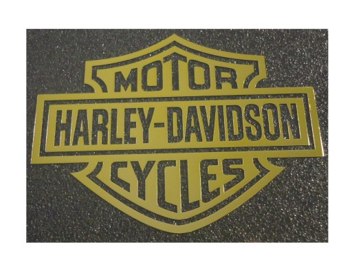222d MOTOR HARLEY-DAVIDSON CYCLES GOLD 90x68 m