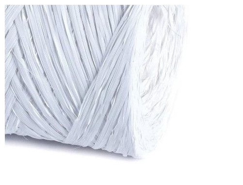 Rafia syntetyczna wstążka BIAŁA siano sznurek 10m