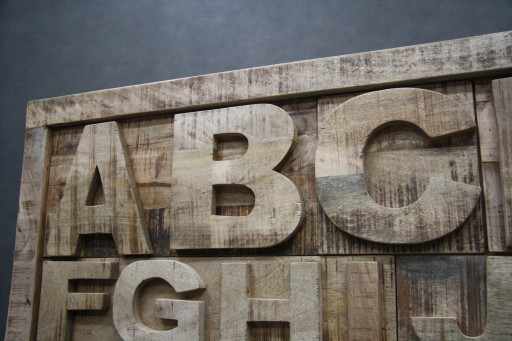 Komoda Alfabet Drewniana Mango Szafka ABC Litery