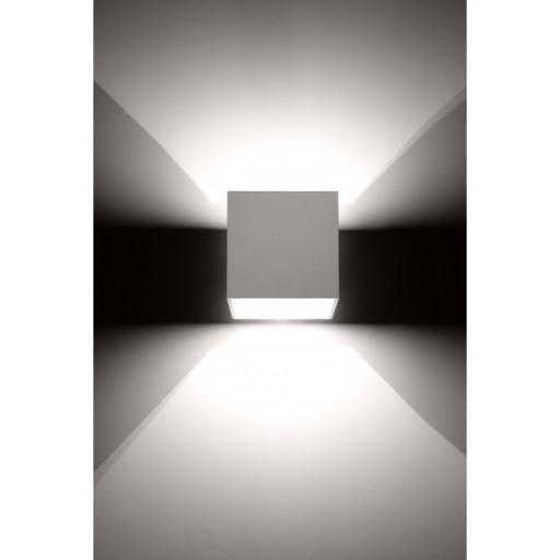 Chłodny LAMPA ŚCIENNA KINKIET LED KWADRAT BIAŁY GÓRA-DÓŁ 6960288214 KX08
