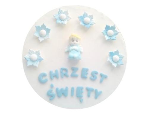 Id1787 Chrzest Dekoracje Tort Baby Roczek Ozdoby 7427620923
