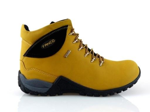 bc455efd ~FANCO~ BUTY TREKKINGOWE WODOODPORNE yellow/blk 46 7598655940 - Allegro.pl
