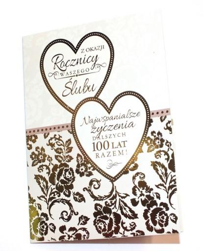 Kartka Rocznica ślubu Gody życzenia Gratulacje