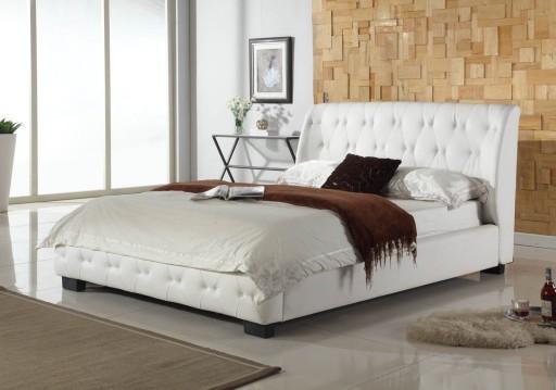 łóżko Tapicerowane Laviano Stelaż Bukowy 140x200 7117525103