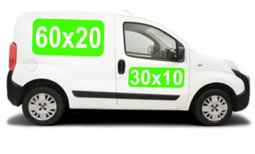 2 Reklama magnetyczna na samochód MAGNES 2xBOK+TYŁ