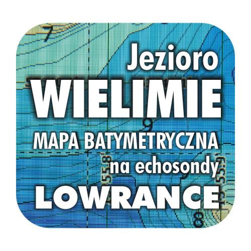 Jezioro Wielimie mapa batymetryczna Lowrance Simra