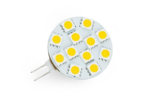 Żarówka LED G4 SMD 1,5W Talerzyk CIEPŁA 12V DC
