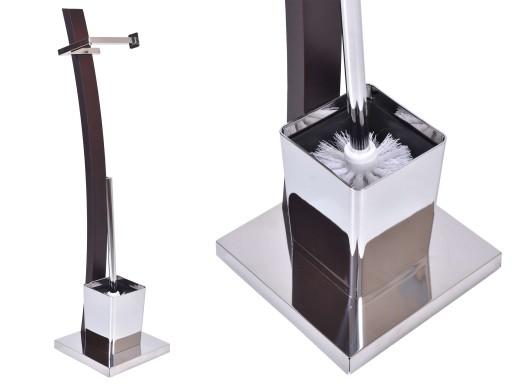 STOJAK ŁAZIENKOWY TOALETOWY NA PAPIER SZCZOTKA WC