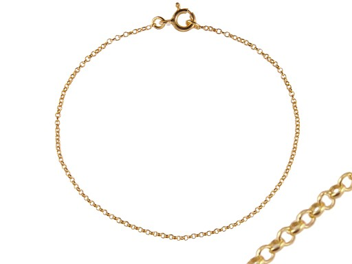VERSIL łańcuszek złocony 70 cm SREBRO 0,925