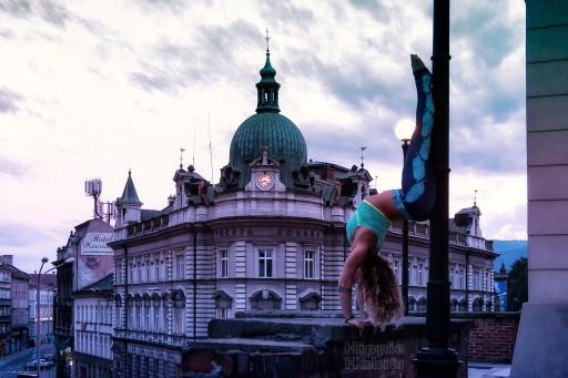 Legginsy damskie SILVER DREAMS - joga,fitness - S