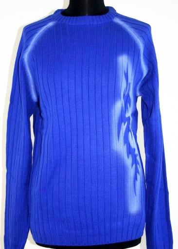 Sweter męski niebieski-chaber R 48/50 10241901692 Odzież Męska Swetry LF ZZKCLF-7