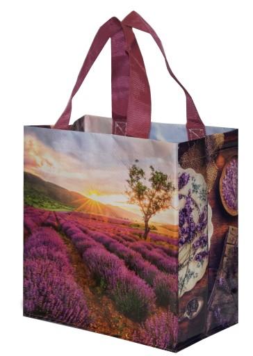 2724cc0810372 Torebka na zakupy NOWOŚĆ mała torba lawenda 7181544590 - Allegro.pl