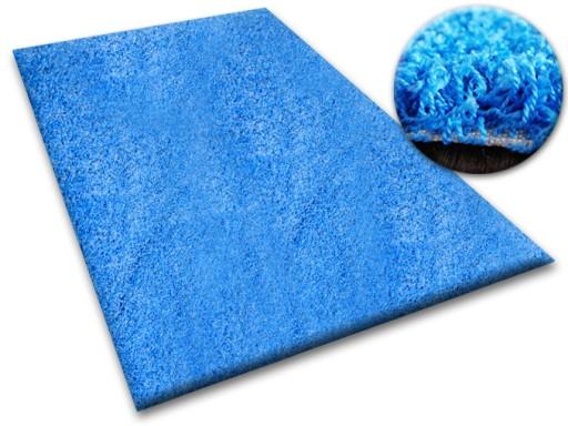 Dywan Shaggy 200x250 Niebieski 5cm Miękki At 10239