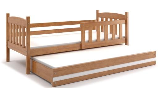 łóżko Kubuś Dla Dwójki Dzieci 200x90 Dziecięce
