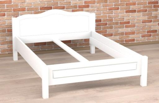 łóżko Sosnowe Białe Merida 200x220 Na Wymiar