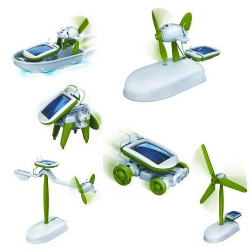 CHAMELEON zestaw 6 edukacyjnych solarnych zabawek