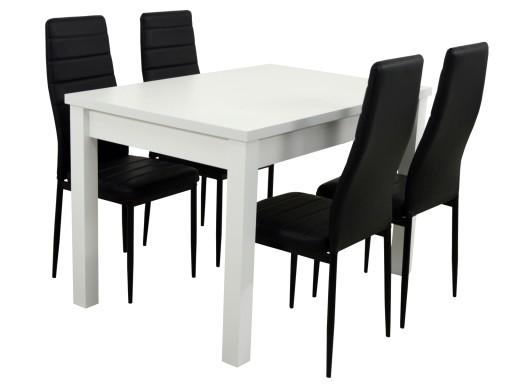Wspaniały Biały stół 4 krzesła NOWOCZESNE do kuchni jadalni 7316482587 CY87