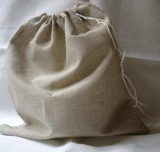 worek lniany na chleb zioła len 26cmx31cm