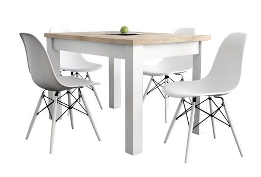 Kwadratowy Stół Rozkładany 80x80x160 I 6 Krzeseł 7259425286 Allegropl