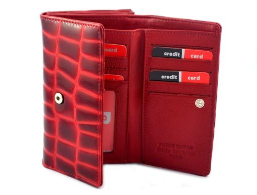 d4198eae73f64 PIERRE CARDIN skórzany portfel damski 03 COCO 108 Kolor czerwony