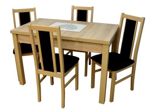 Zestaw Stół 4 Krzesła Do Kuchni Laminat