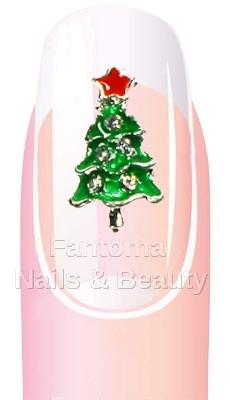 świąteczna Biżuteria Na Paznokcie 3d Choinka 7684763027 Allegropl