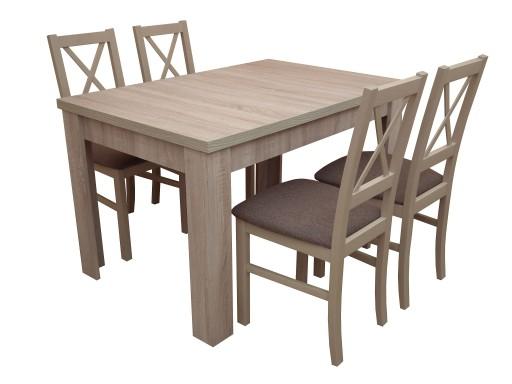 Meble Do Kuchni Stół 4 Drewniane Krzesła