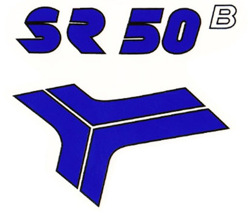 STICKER NA KAPY PANEL SKYDAS SIMSON SR 50 BLUE