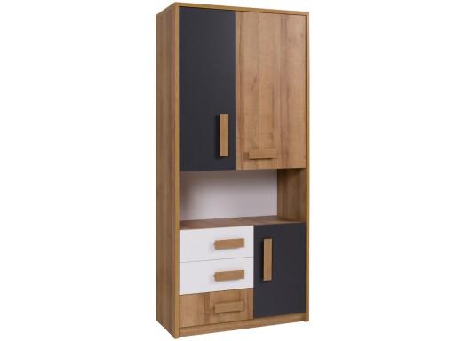 Regał 85 z drzwiami szufladami dla dzieci QUATRO 3