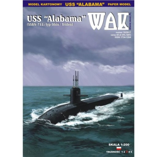 WAK 10/17 Okręt podwodny USS Alabama SSBN-731