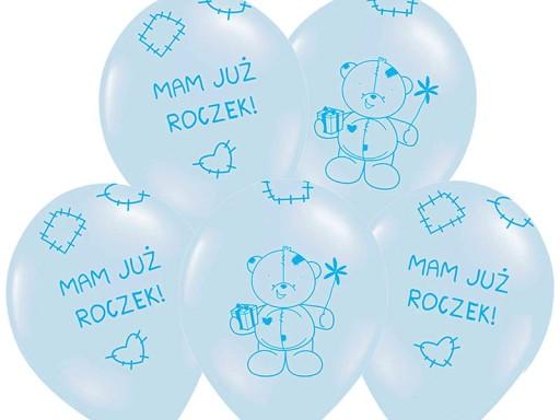 Balony Na Roczek Pierwsze Urodziny 5szt Balon 34cm 7181257142