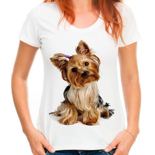 8161db73 Koszulka z Yorkiem psem prezent dla dziewczyny -XL